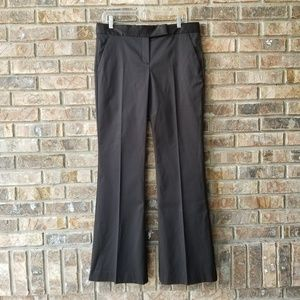 Theory Women's Stretch Cotton Black Chino Pants 10